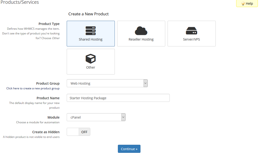 image showing how to add products in WHMCS