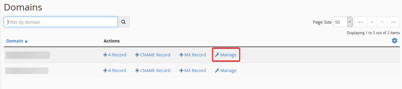 image showing how to edit cname record in cPanel