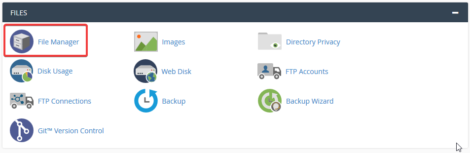 image showing how to create a new folder in cpanel