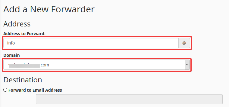 image showing how to add email forwarders in cPanel