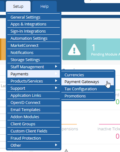 how to add payment gateway in WHMCS