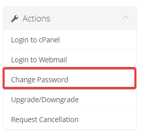 how to change cpanel password